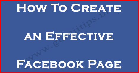 how to create official facebook page