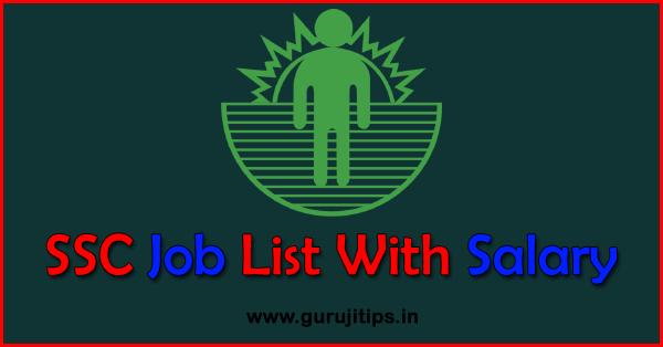 ssc job list
