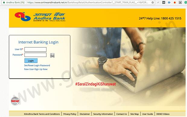 Andhra Net Banking