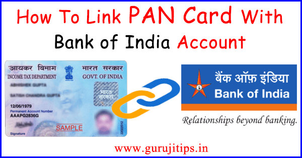 link pan with bank of india