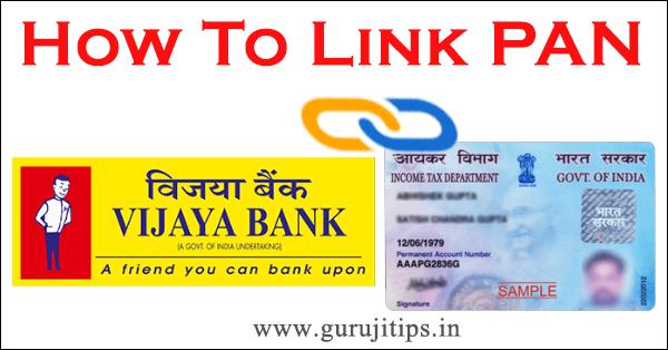 pan link with vijaya bank