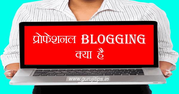 professional blogging kya hai