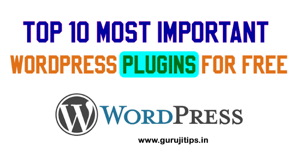 important wordpress plugin