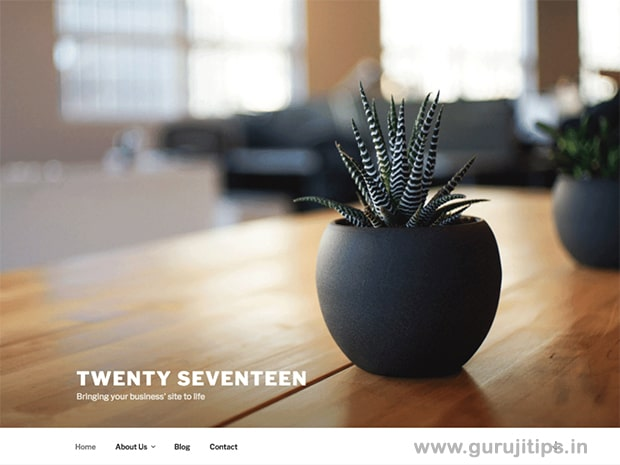 twenty seventeen wp theme