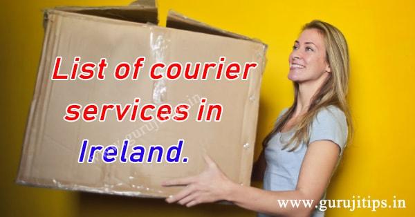 courier service in ireland