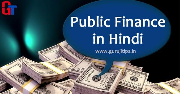 public finance in hindi