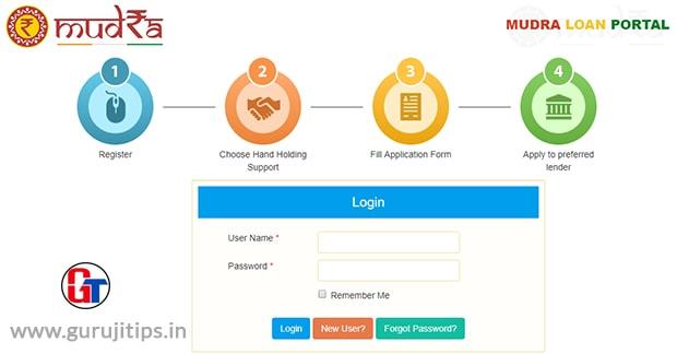 mudra loan apply online