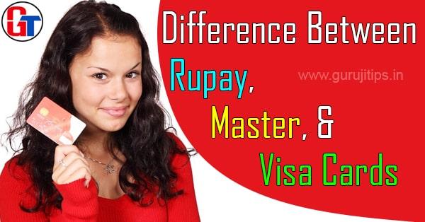 rupay visa master card