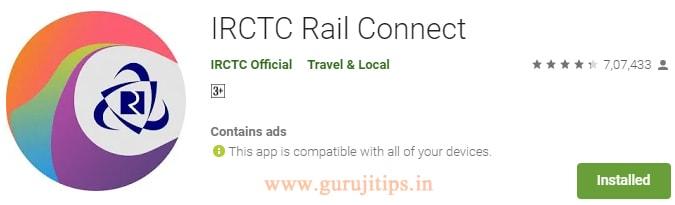 irctc rail app